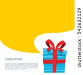 small opened gift box with... | Shutterstock .eps vector #542632129
