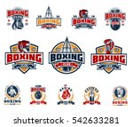 set boxing badges  stickers... | Shutterstock .eps vector #542633281