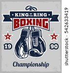 poster with boxing gloves in... | Shutterstock .eps vector #542633419