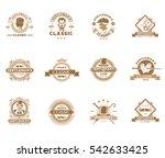 set of vintage gentleman... | Shutterstock .eps vector #542633425