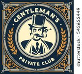 vintage gentleman emblem ...   Shutterstock .eps vector #542633449