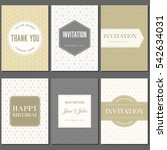 greeting card and invitation... | Shutterstock .eps vector #542634031