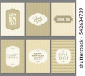 greeting card and invitation... | Shutterstock .eps vector #542634739