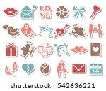 valentine icon set | Shutterstock .eps vector #542636221