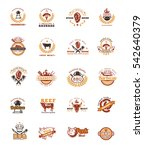 set grill and barbecue badges ... | Shutterstock .eps vector #542640379