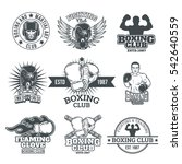 set boxing badges  stickers... | Shutterstock .eps vector #542640559