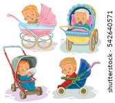set illustrations of little... | Shutterstock .eps vector #542640571