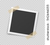 realistic square photo frame... | Shutterstock .eps vector #542646055