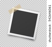 realistic square photo frame... | Shutterstock .eps vector #542646061