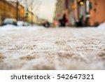 snowy winter in the big city ...   Shutterstock . vector #542647321