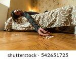depressed man commit suicide... | Shutterstock . vector #542651725