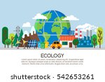 ecology concept in flat stile.... | Shutterstock .eps vector #542653261