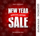 new year sale badge  label ... | Shutterstock .eps vector #542661535