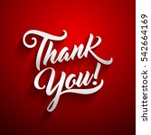 thank you beautiful lettering... | Shutterstock .eps vector #542664169
