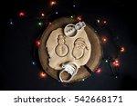 typographic christmas cookies... | Shutterstock . vector #542668171