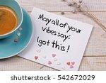 inspiration motivation quote... | Shutterstock . vector #542672029