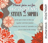 wedding invitation card with... | Shutterstock .eps vector #542674069