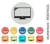 television icons set.vector... | Shutterstock .eps vector #542676121