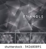 triangular abstract background. ... | Shutterstock .eps vector #542680891