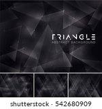 triangular abstract background. ... | Shutterstock .eps vector #542680909