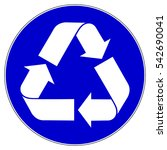must be recycled  mandatory... | Shutterstock .eps vector #542690041
