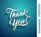 thank you beautiful lettering... | Shutterstock .eps vector #542692105
