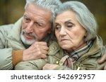 thoughtful senior couple | Shutterstock . vector #542692957