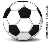 detailed soccer ball  football  ... | Shutterstock .eps vector #54269332