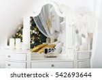 dressing table with xmas tree...   Shutterstock . vector #542693644