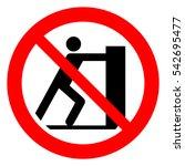 do not push  prohibition sign.... | Shutterstock .eps vector #542695477