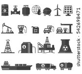 oil and energy resources icons...   Shutterstock .eps vector #542698471