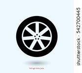 wheel icon  vector best flat... | Shutterstock .eps vector #542700445