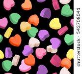 seamless pattern for valentine... | Shutterstock .eps vector #542708041