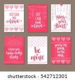 set valentine's day greeting... | Shutterstock .eps vector #542712301