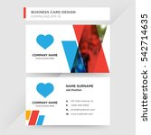template of business card for...   Shutterstock .eps vector #542714635