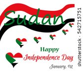sudan independence day poster  | Shutterstock .eps vector #542715751