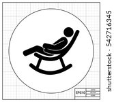 man in rocking chair icon | Shutterstock .eps vector #542716345