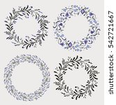 floral wreaths collection on... | Shutterstock .eps vector #542721667