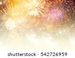 fireworks at new year and copy... | Shutterstock . vector #542726959