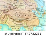 geographic map of china country ...   Shutterstock . vector #542732281