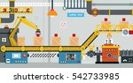 engineers are controlling the... | Shutterstock .eps vector #542733985