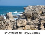 the coast of atlantic ocean in... | Shutterstock . vector #542735881