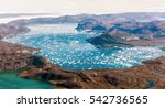lake appearing on the ice dome... | Shutterstock . vector #542736565