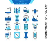 icon set of outline healthcare... | Shutterstock .eps vector #542737129