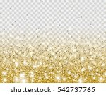 gold glitter particles and... | Shutterstock .eps vector #542737765