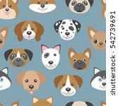vector seamless pattern with... | Shutterstock .eps vector #542739691