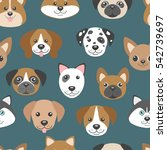vector seamless pattern with... | Shutterstock .eps vector #542739697