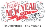 happy new year 2017  join us.... | Shutterstock .eps vector #542740141
