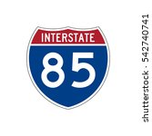 interstate highway 85 road sign | Shutterstock .eps vector #542740741