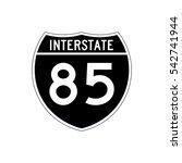 interstate highway 85 road sign.... | Shutterstock .eps vector #542741944
